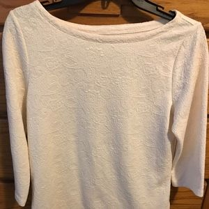 St. John's Bay ivory long sleeve top